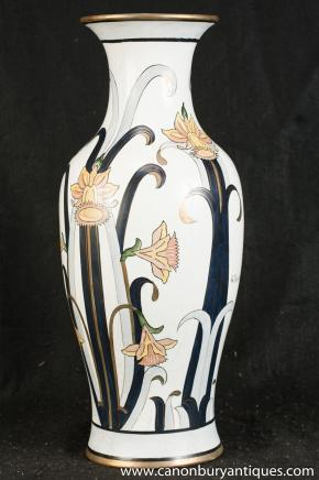 Single French Art Nouveau Porcelain Vase Signed Fierranino