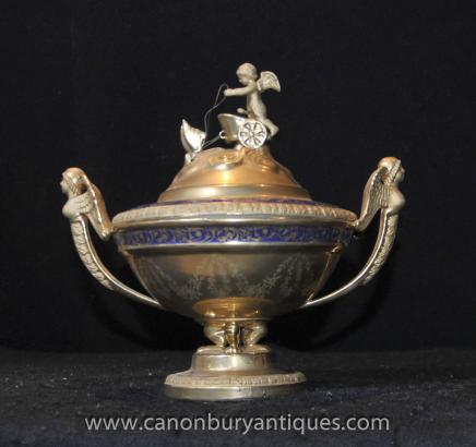 German Meissen Porcelain Cherub Tureen Dish Urn