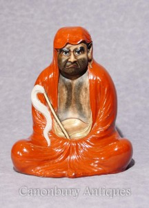 Antique Japanese Kutana Porcelain Man Figurine 1910
