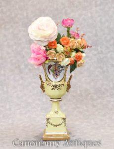 Dresden Porcelain Vase - Campana Urn Floral Planter