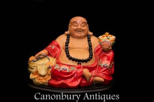Qing Porcelain Happy Buddha - Chinese Buddhist Statue China