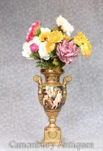 Sevres Porcelain Vase - Painted Roma Toga Scenes Urn