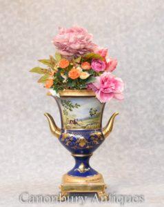 Dresden Porcelain Campana Urn - Single German Planter Vase