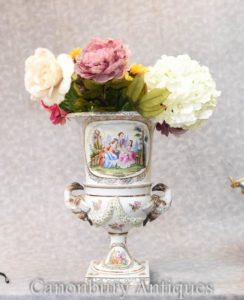 Single Meissen Porcelain Classical Campana Urn Vase Planter